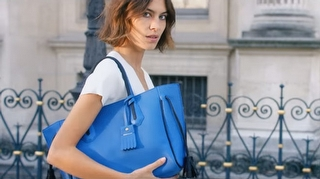 Alexa Chung Longchamp Kampanyasında